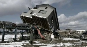 Using Japan's real disaster locations that have not yet been cleared up is an inspired if chilling effect