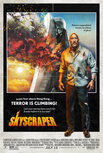 Skyscraper Vintage Poster like The Tower Inferno