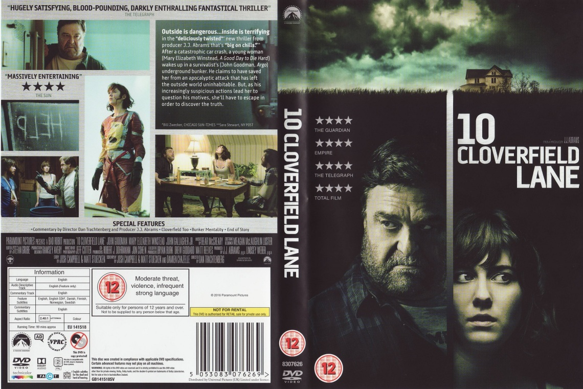 10 Cloverfield Lane DVD cover
